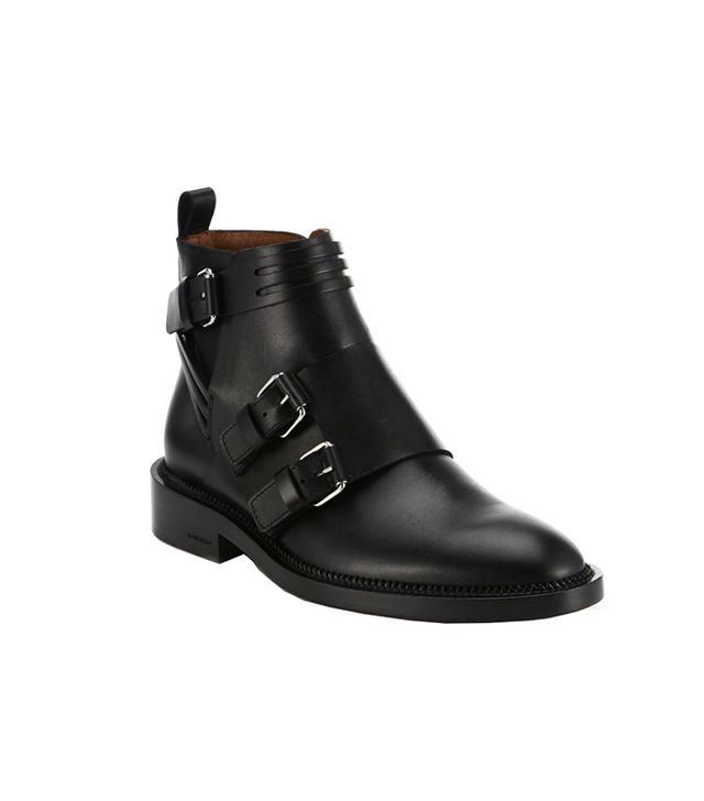 Givenchy Bandage Leather Biker Boots