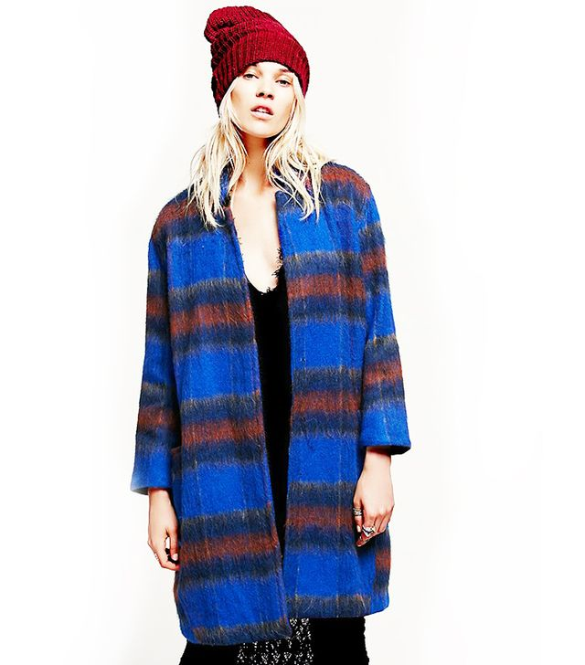 Free People Long and Lean Wool Overcoat