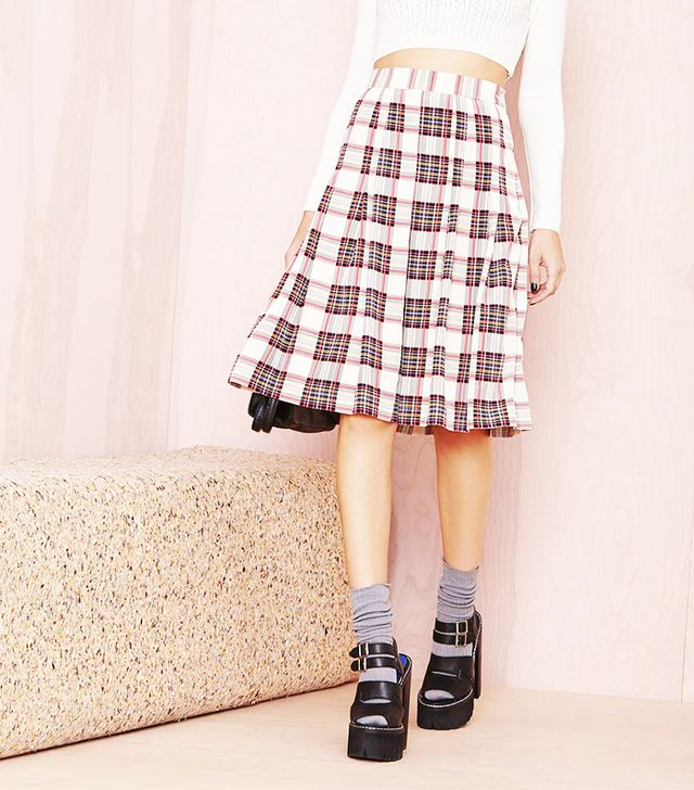 NastyGal Plaid to the Bone Skirt