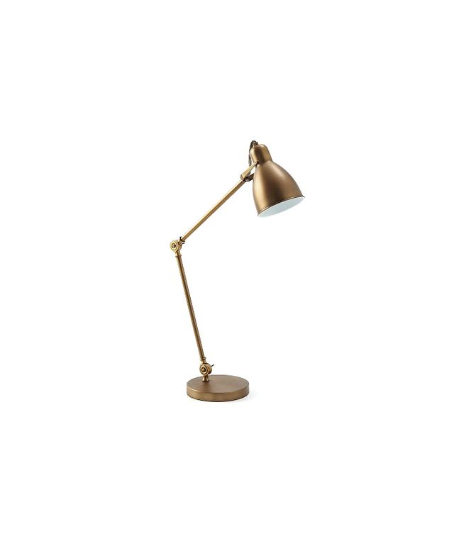 West Elm Industrial Task Table Lamp in Brass
