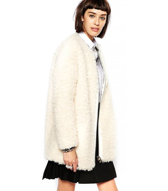 Eleven Paris Flavy Coat In Fluffy Boucle