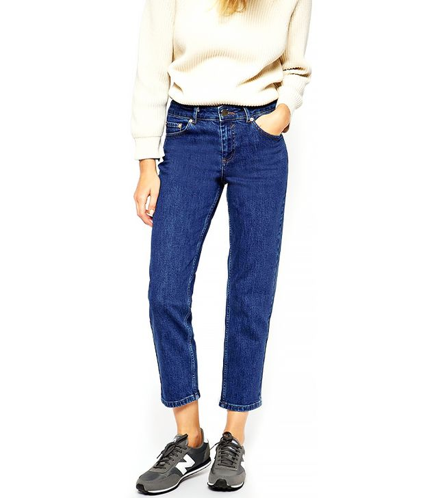 ASOS Thea Mid Rise Girlfriend Jeans