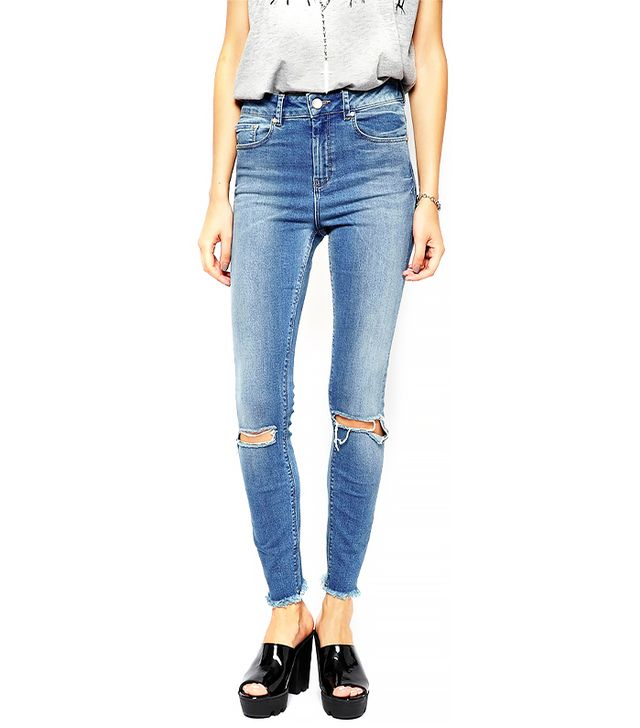ASOS Ridley Ankle Grazer Jeans