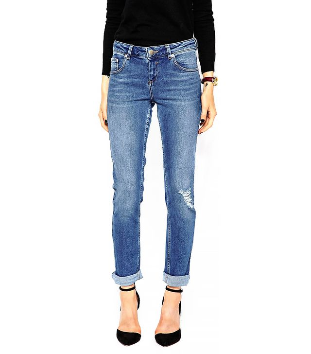 ASOS Kimmi Supersoft Shrunken Boyfriend Jeans