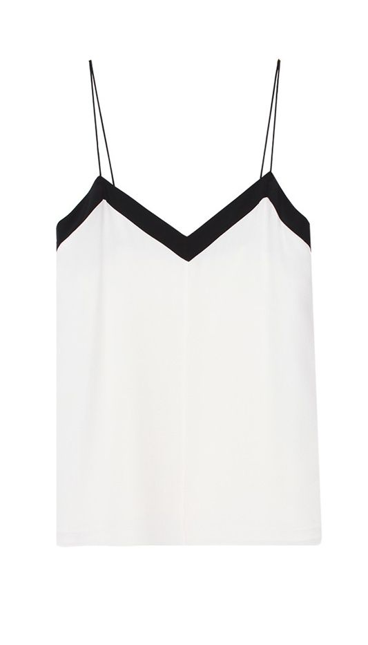Tibi Silk Color Block Cami