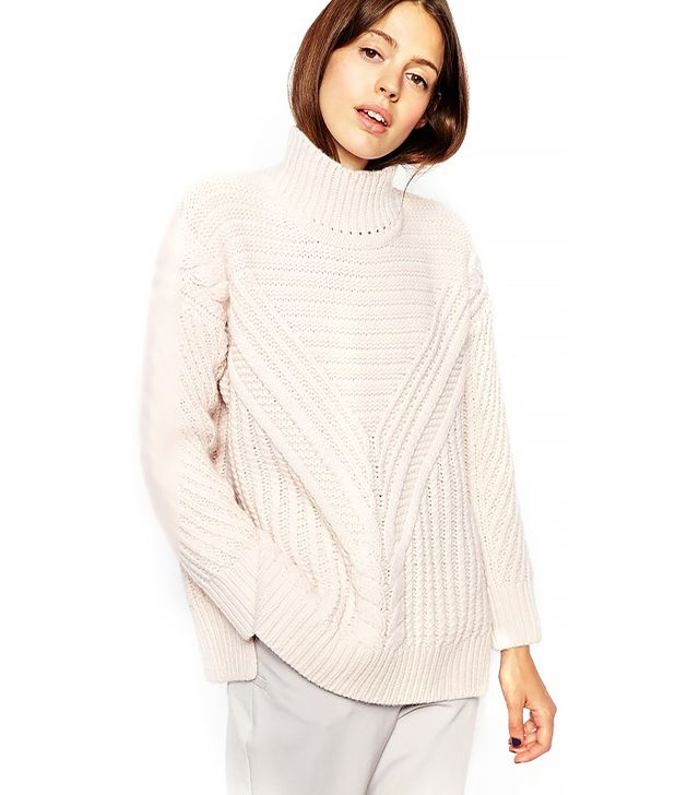 ASOS Cable Sweater With High Neck