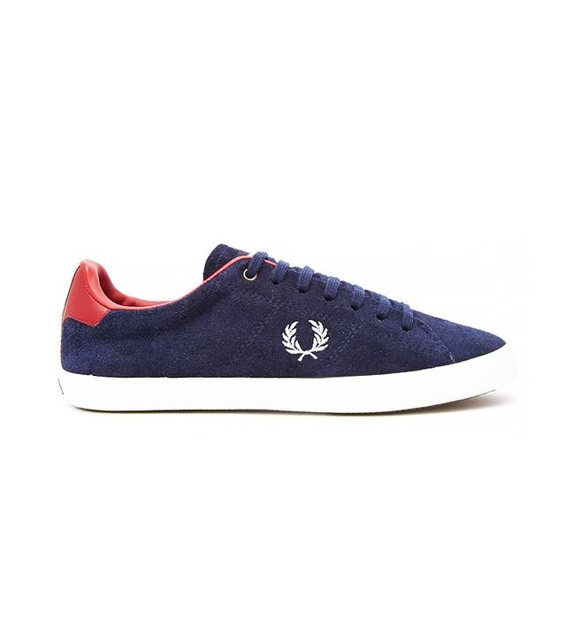 Fred Perry Howells Suede Carbon Blue Sneakers