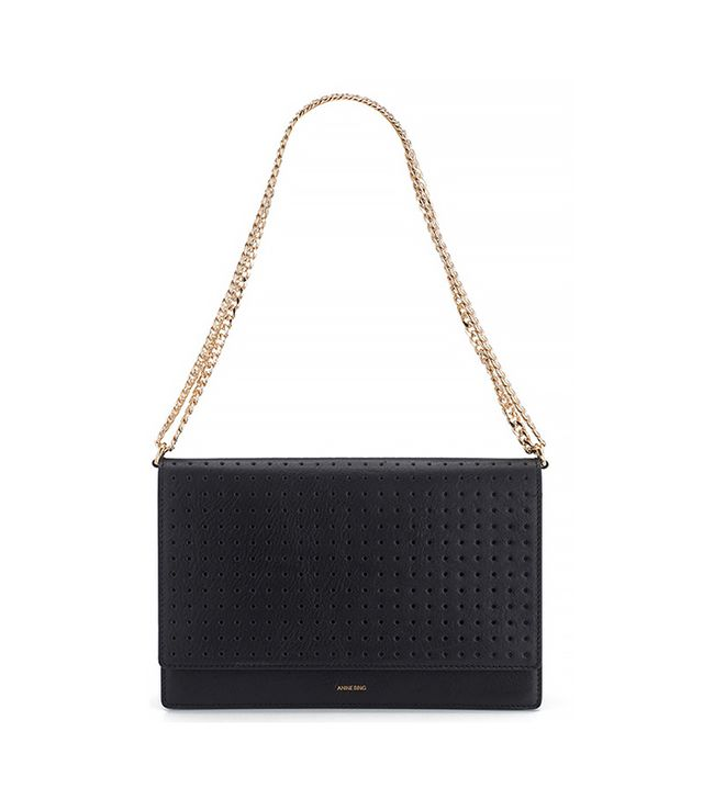 Anine Bing Shoulder Bag With Gold Accents