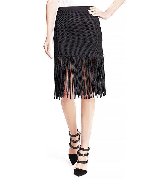 Riller & Fount Fifi Fitted Fringe Skirt