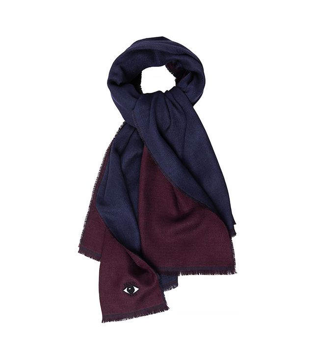 KENZO Wool and Silk-Blend Scarf