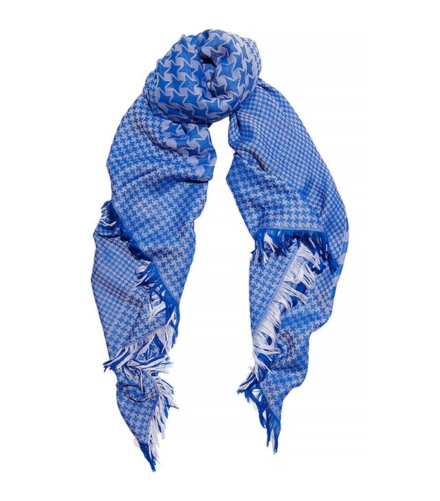Stella McCartney Houndstooth Wool and Silk-Blend Scarf