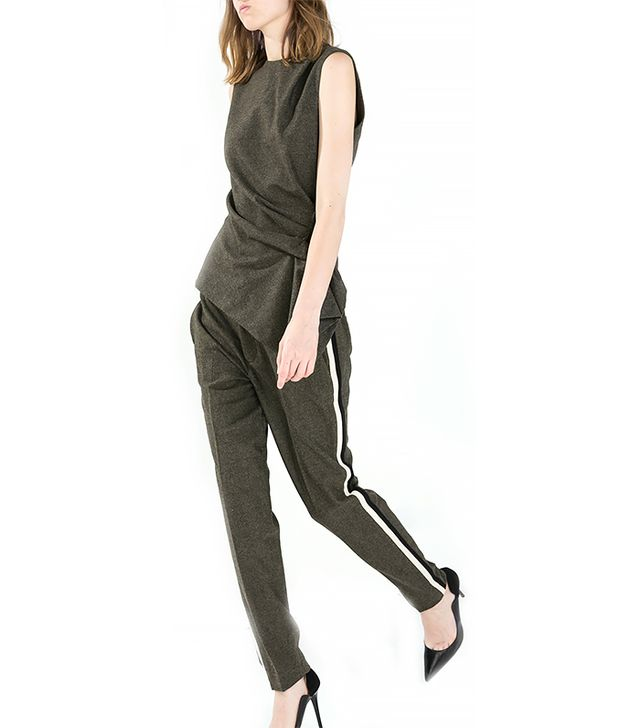 Zara Drawstring Trousers with Side Stripes