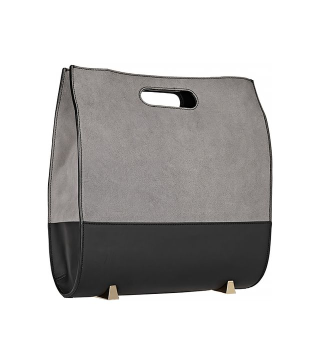Alexander Wang Chastity Rubberized Suede and Leather Tote