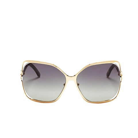 Oversized Suspended Wire-Rim Sunglasses
