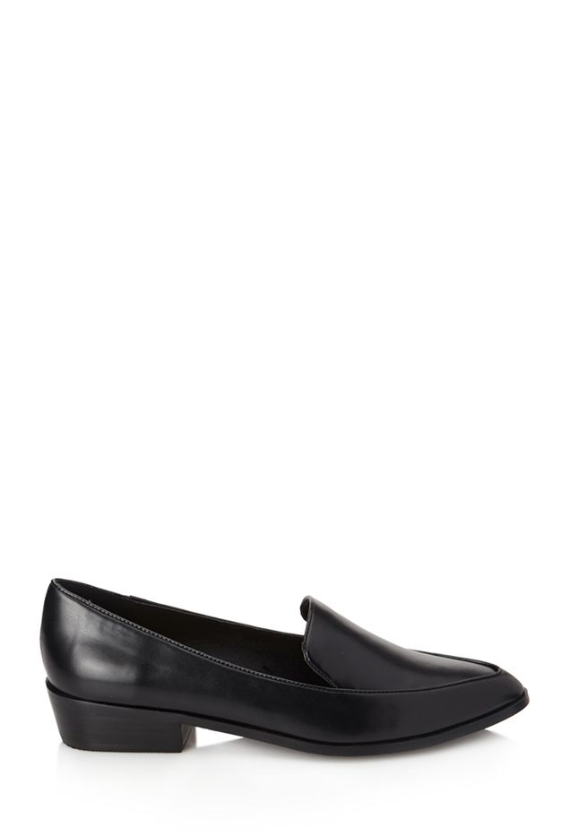 Forever 21 Pointed Faux Leather Loafers