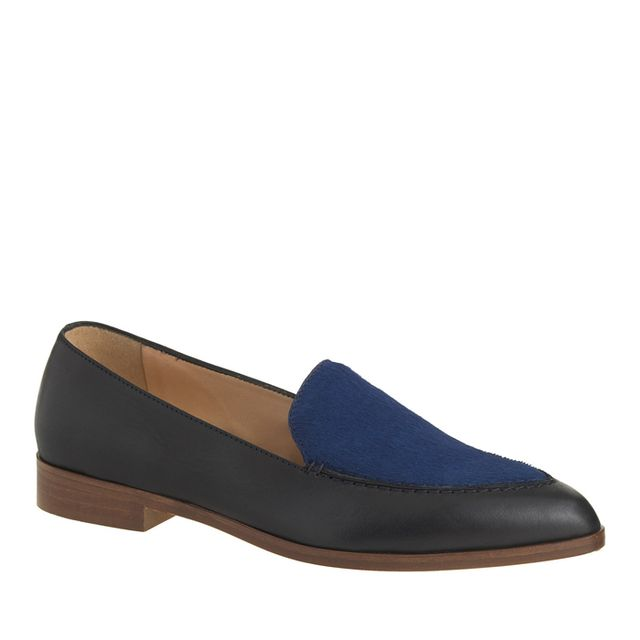 J.Crew Collection Calf Hair and Leather Loafers
