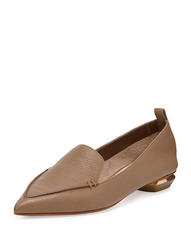 Nicholas Kirkwood Pebbled Point-Toe Loafers
