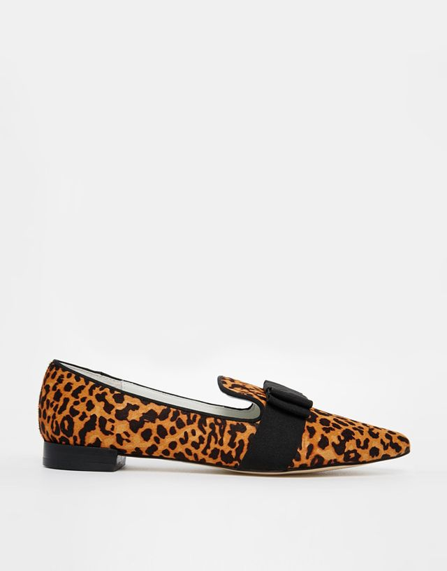 Senso Freja IV Leopard Print Flat Pointed Shoes