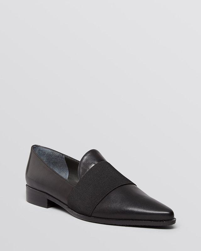 Stuart Weitzman Theband Pointed Toe Loafers