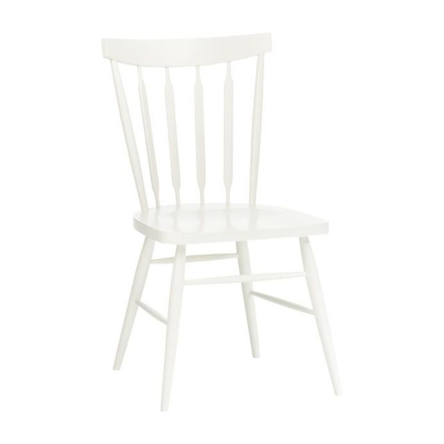 Crate & Barrel Willa White Side Chair