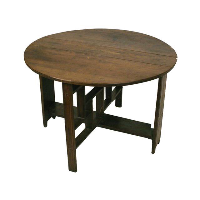 Chairish Shanxi Elmwood Round Folding Coffee Table