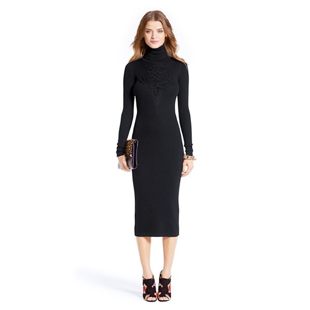 Diane von Furstenberg Knit Turtleneck Dress