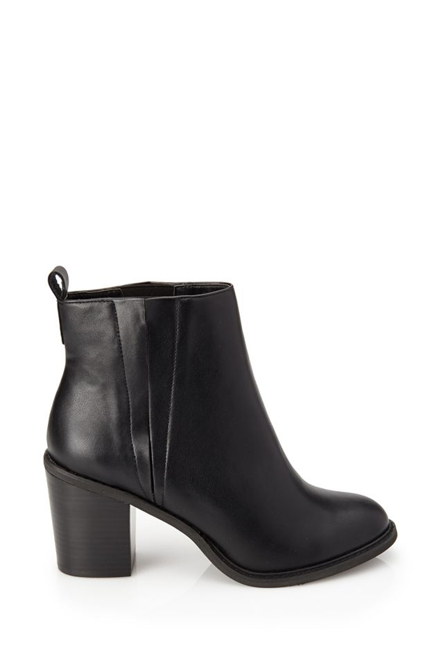 Forever 21 Slit Faux Leather Booties