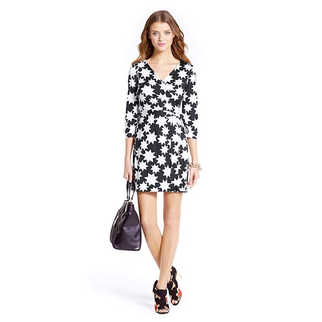 Diane von Furstenberg New Julian Two Mini Silk Jersey Wrap Dress