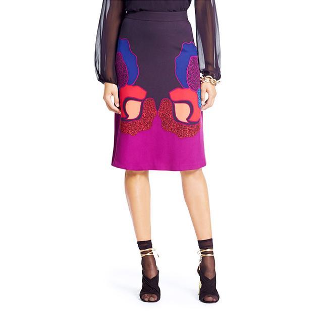 Diane von Furstenberg Printed A-Line Dancing Skirt