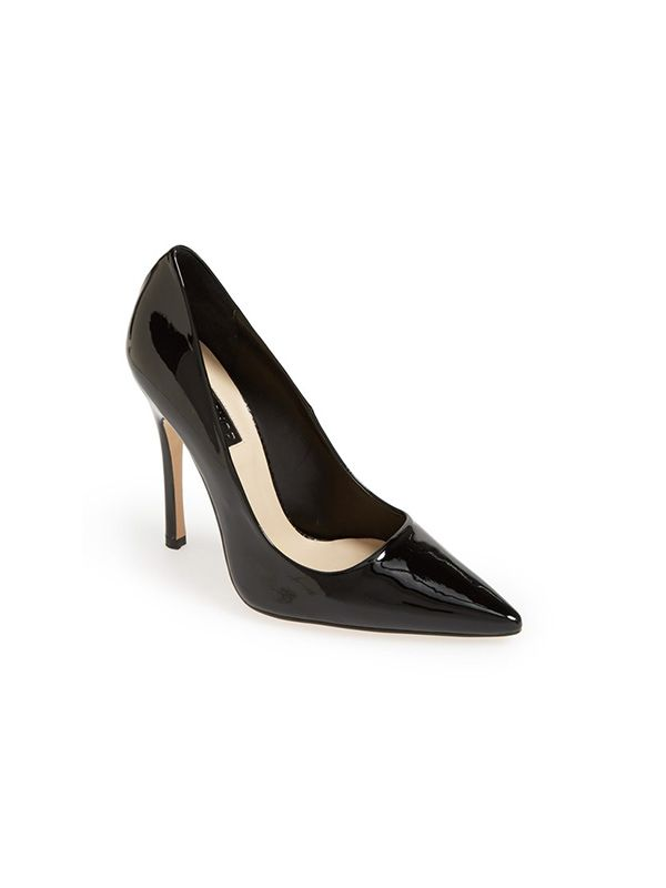 Topshop Gallop Patent Pointy Toe Pumps