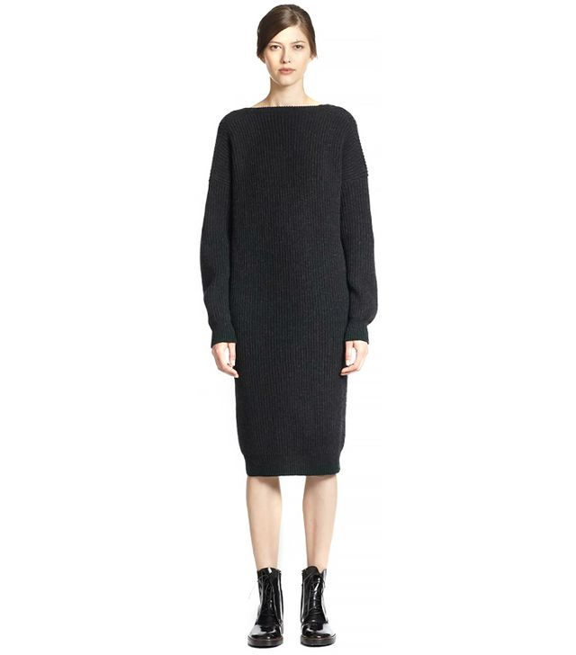 Maison Martin Margiela Ribbed Wool Sweater Dress
