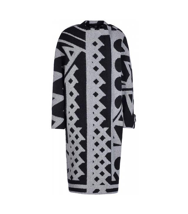 Burberry Prorsum Jacquard Wool & Cashmere Blanket Coat