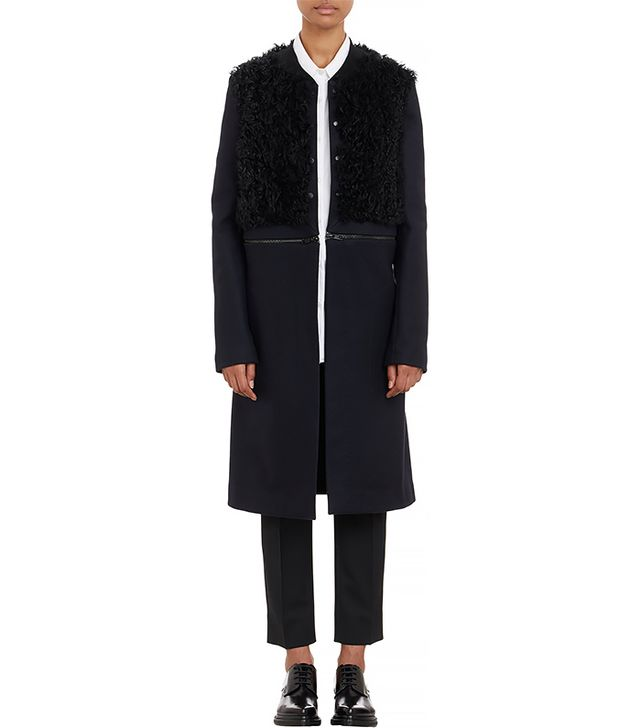 A.L.C. Melton & Fur Rocio Convertible Coat