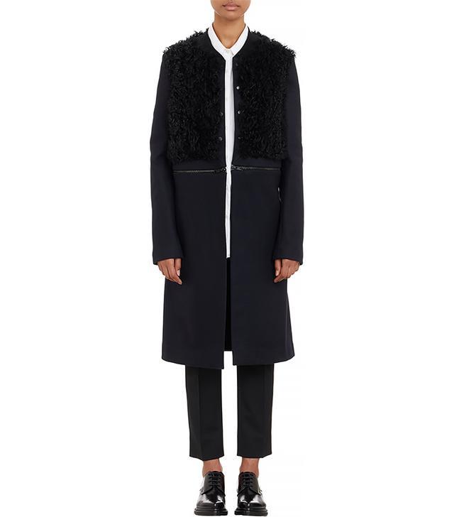 A.L.C. Melton & Fur Rocio Convertible Coat