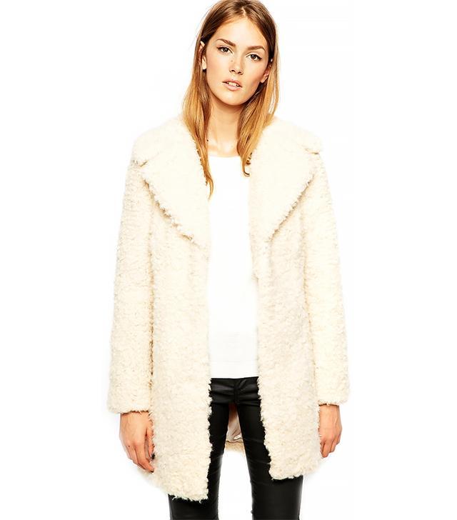 Warehouse Faux Fur Coat