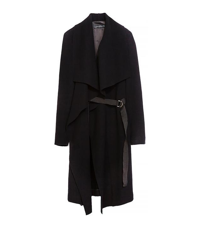 Zara Draped Coat with Ribbons