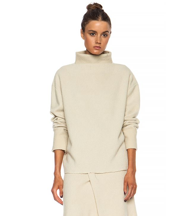 Isabel Marant Karine Cowens Turtleneck Wool-Blend Sweater in Off White
