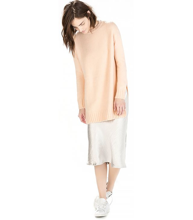 Zara Long Sweater with Side Slits