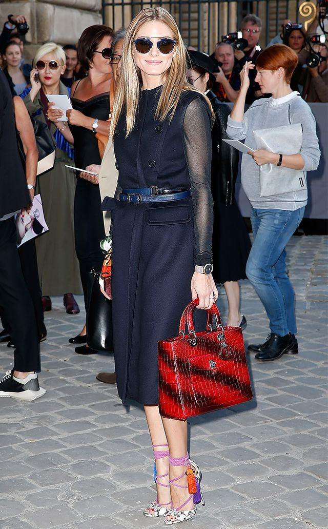 On Palermo: Burberry Prorsum dress; Schutz shoes.