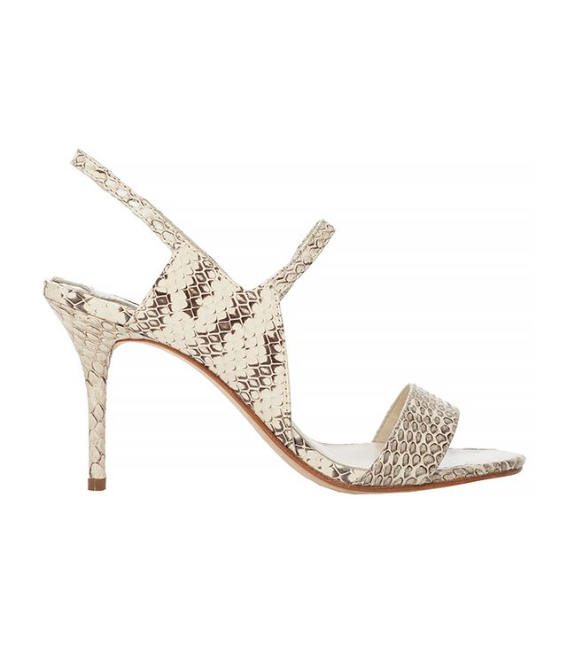 Max Studio Waft Snakeskin Heeled Sandals