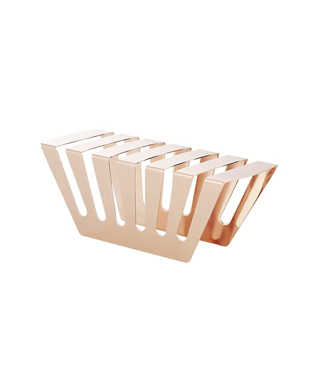CB2 Balance Rose Gold Letter holder