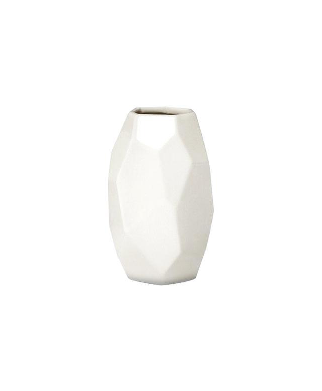 Nate Berkus White Facet Vase