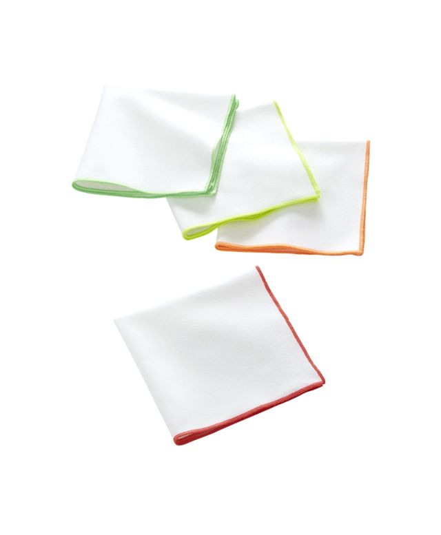 CB2 Neon Edge Cocktail Napkins