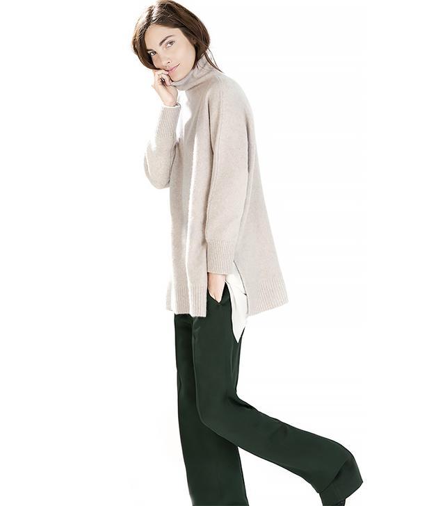 Zara Cashmere Poncho Sweater
