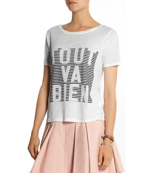 J. Crew Tout Va Bien Linen T-Shirt