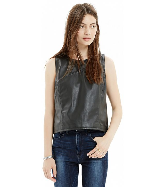 Madewell Leather Crop Tank