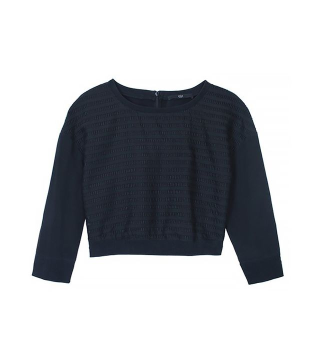 Tibi Organza Striped Sweatshirt