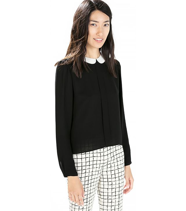 Zara Blouse with Contrasting Collar
