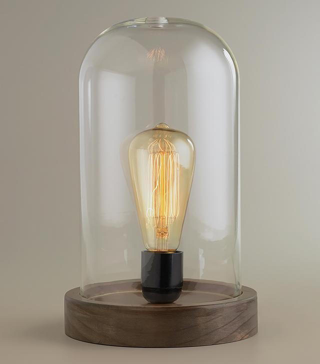 World Market Edison Glass Cloche Table Lamp