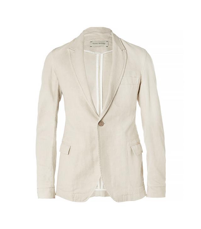 Oliver Porter Bampton Slim-Fit Unstructured Linen and Cotton-Blend Blazer